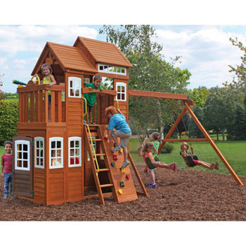 Costco Mount Forest Lodge Playset Installation And Assembly In Nj